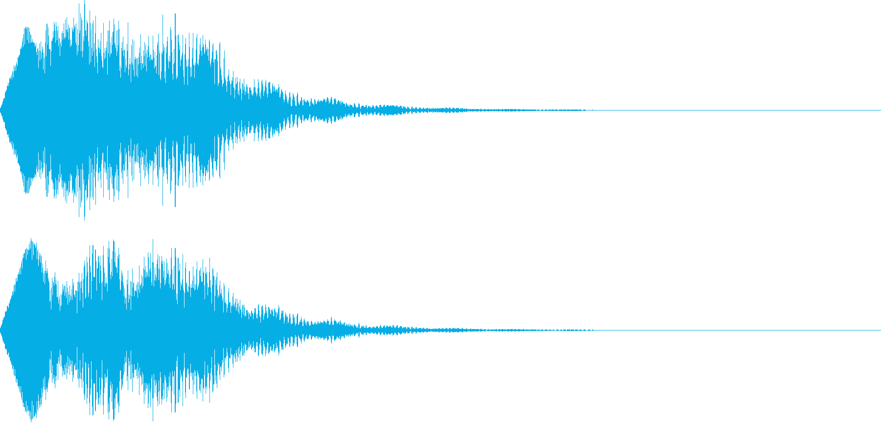 不思議な魔法の効果音の再生済みの波形