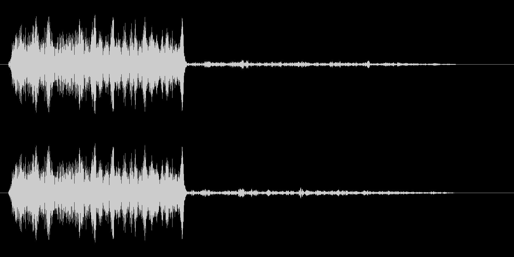 キュワッ(動物もしくは摩擦の声)の未再生の波形