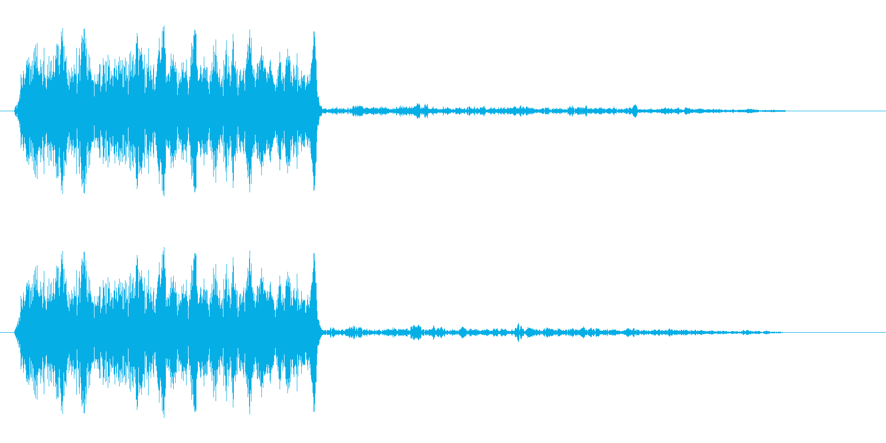キュワッ(動物もしくは摩擦の声)の再生済みの波形