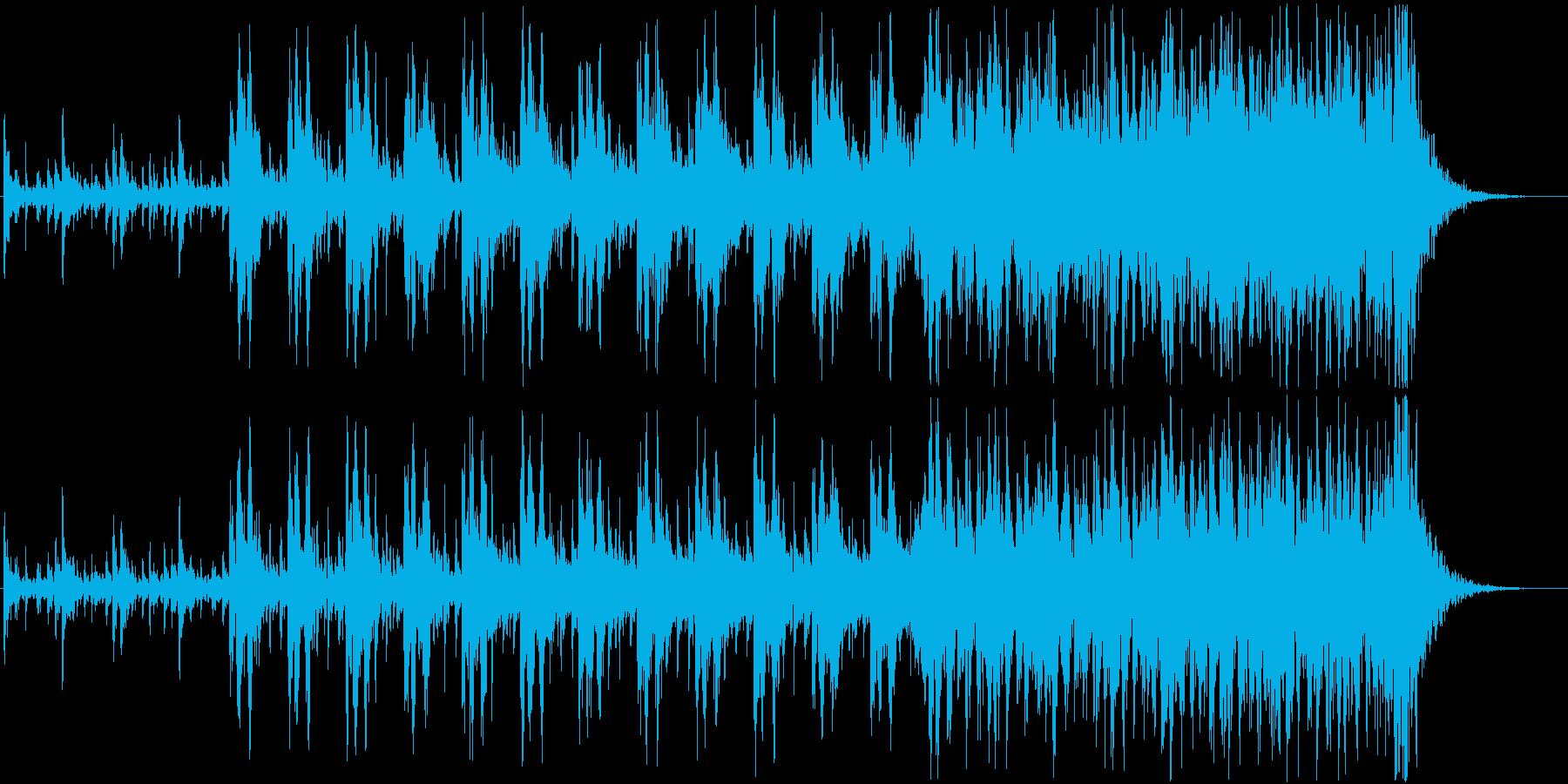 迫力あるシネマチックパーカッション03の再生済みの波形