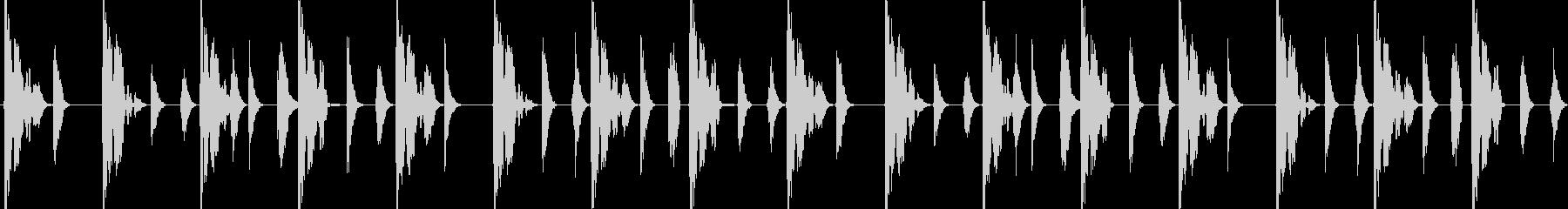 R&Bビート 4小節ループの未再生の波形