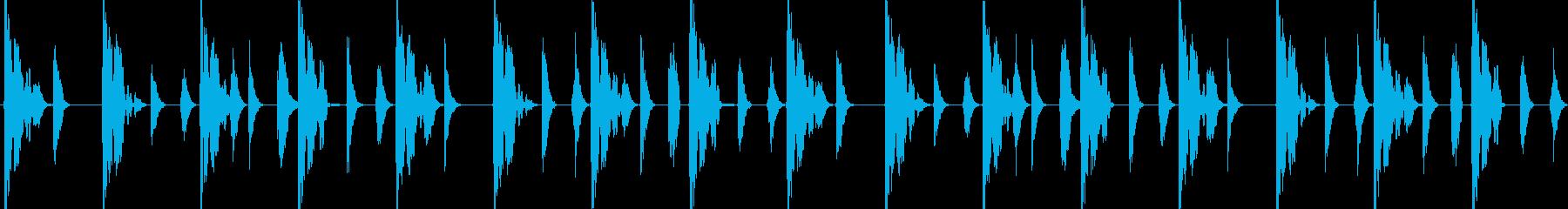 R&Bビート 4小節ループの再生済みの波形