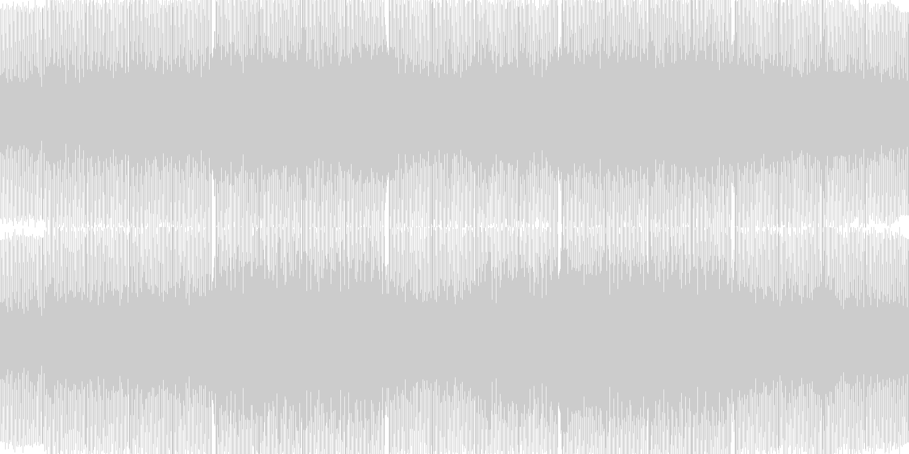 浮遊感のあるサイバー系トランスの未再生の波形