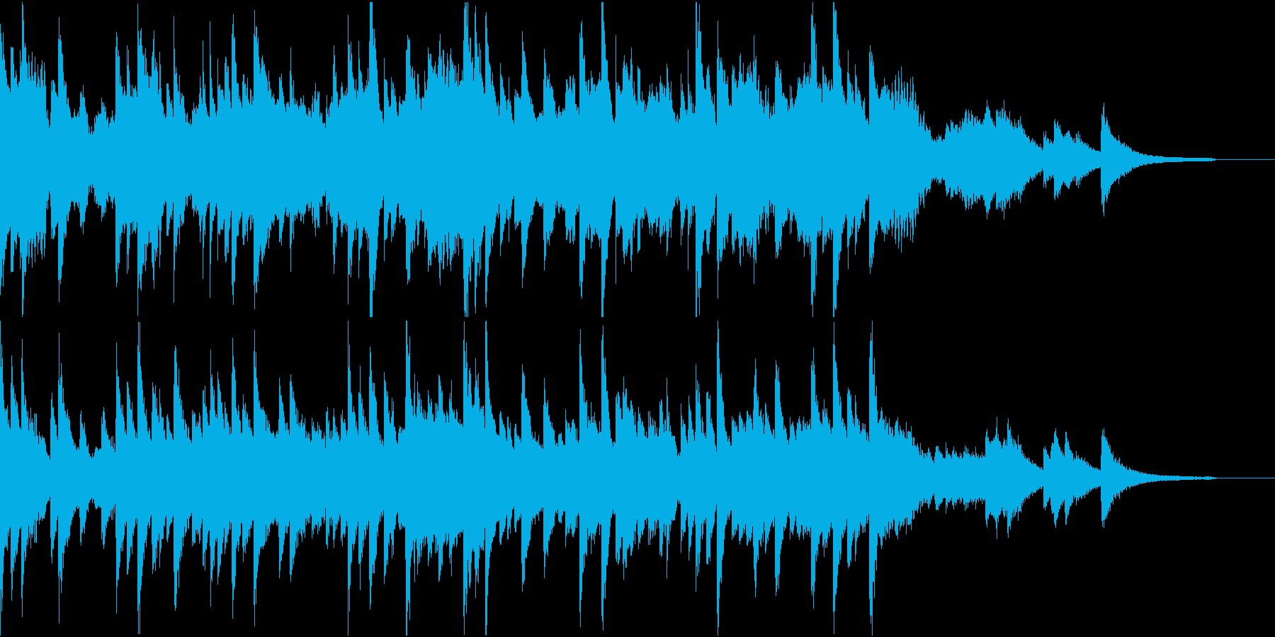 少し和風の強い風を感じる音の再生済みの波形