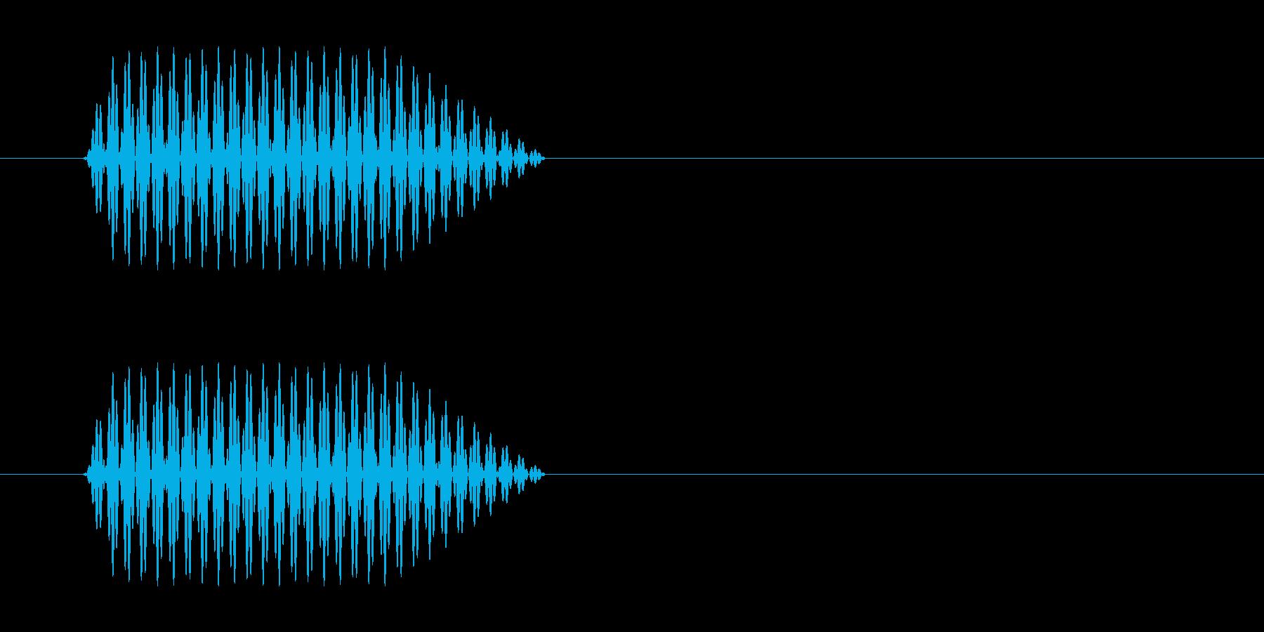 短めの電話のプッシュ音の再生済みの波形