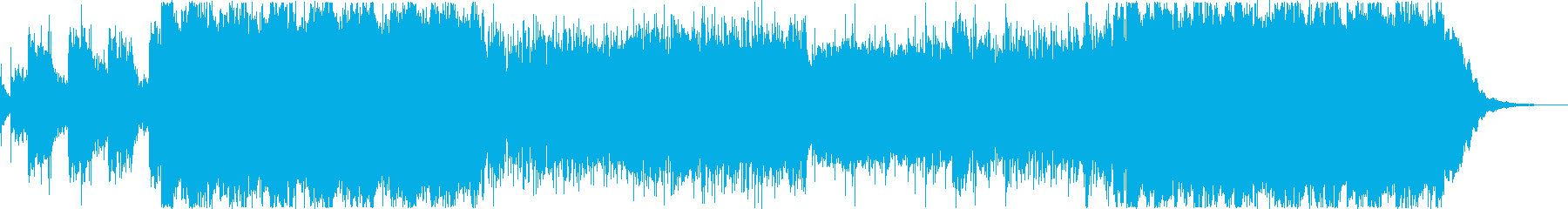高揚感ある重めのエレクトロニカの再生済みの波形