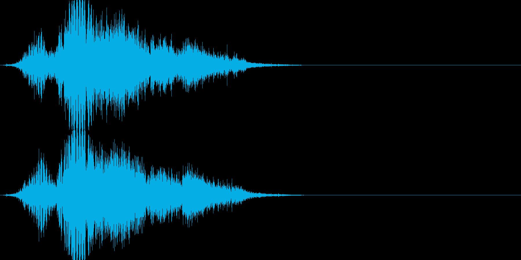 斬撃音(刀や剣で斬る/刺す効果音)15の再生済みの波形