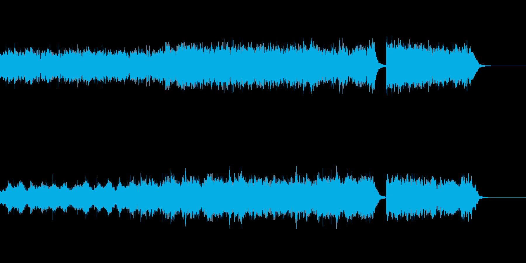 映像用 ピアノと弦楽器の優雅な曲の再生済みの波形