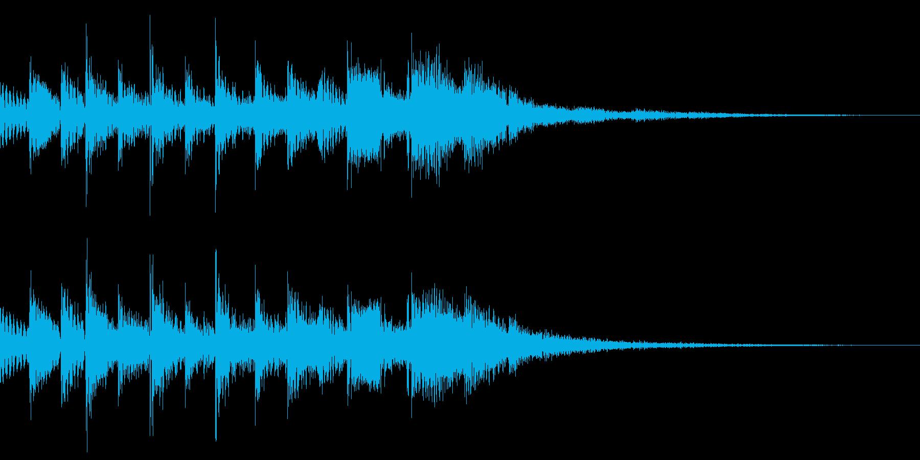 ひらめく(フレクサトーンで演奏)の再生済みの波形