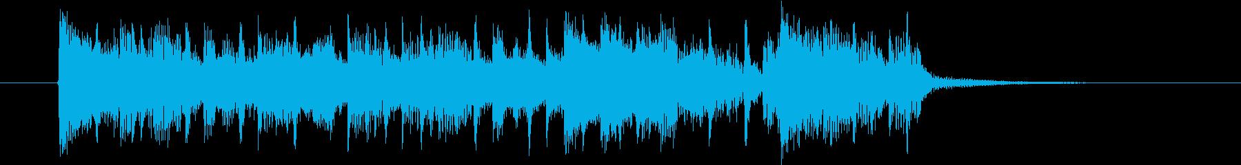 高揚感あるスピーディーなビートジングルの再生済みの波形