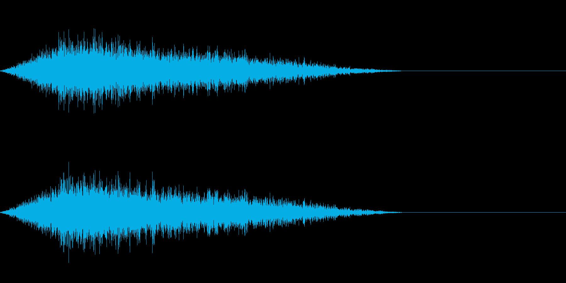 モンスターやゾンビの登場にの再生済みの波形