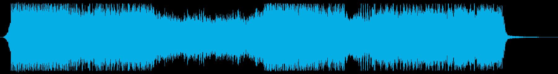 荘厳でガチンコ感のある15秒OPの再生済みの波形