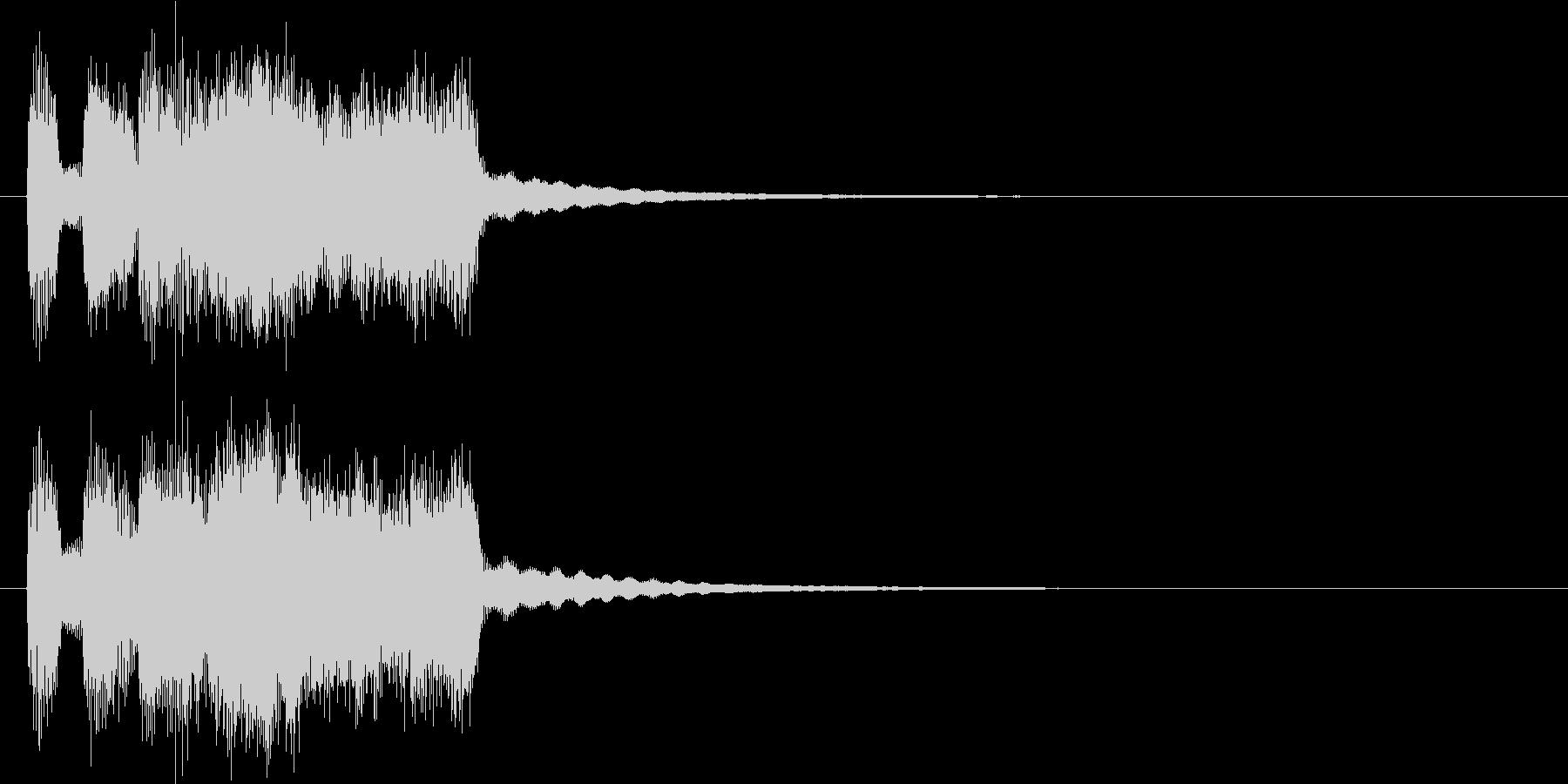 シンプルなファンファーレの未再生の波形