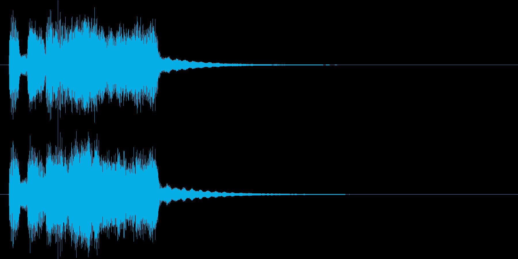 シンプルなファンファーレの再生済みの波形