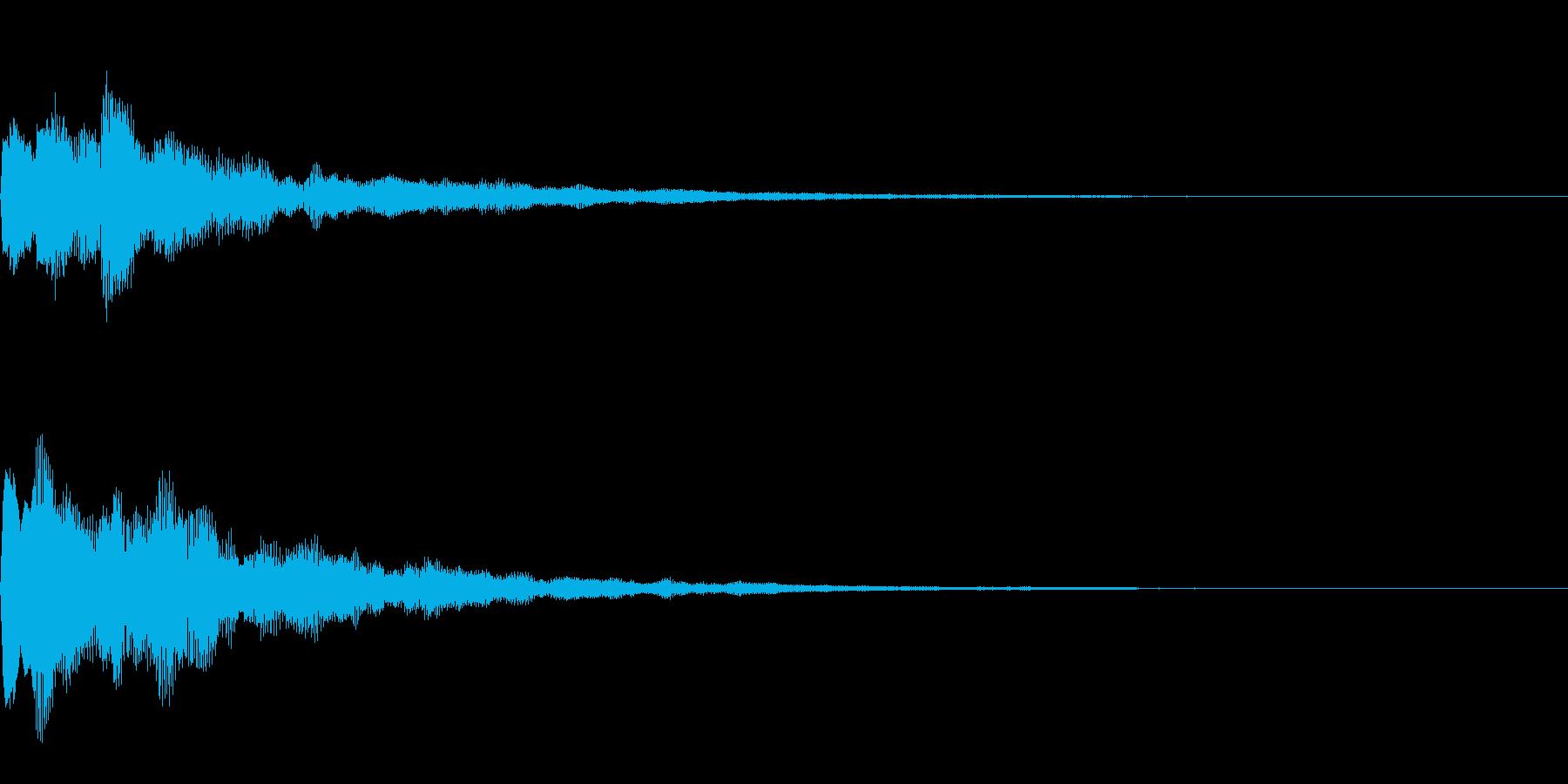 おしゃれなタップ音(決定音)の再生済みの波形