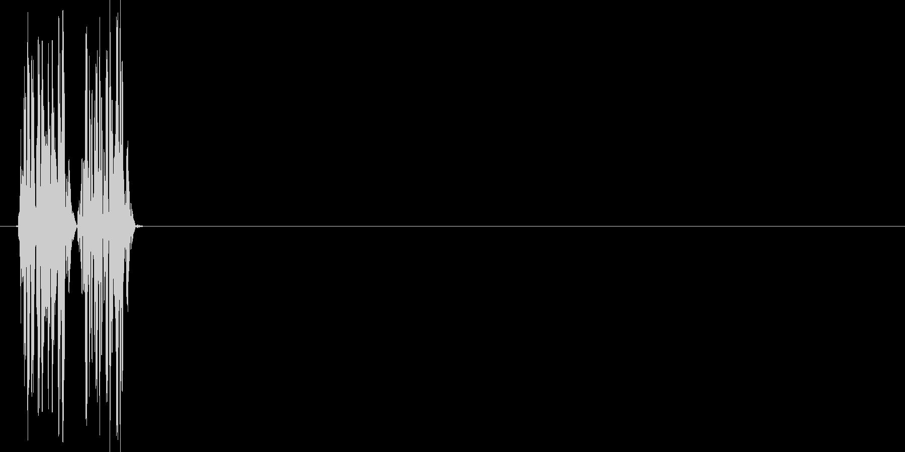 ブブッ(不正解、バツ、クイズ)の未再生の波形