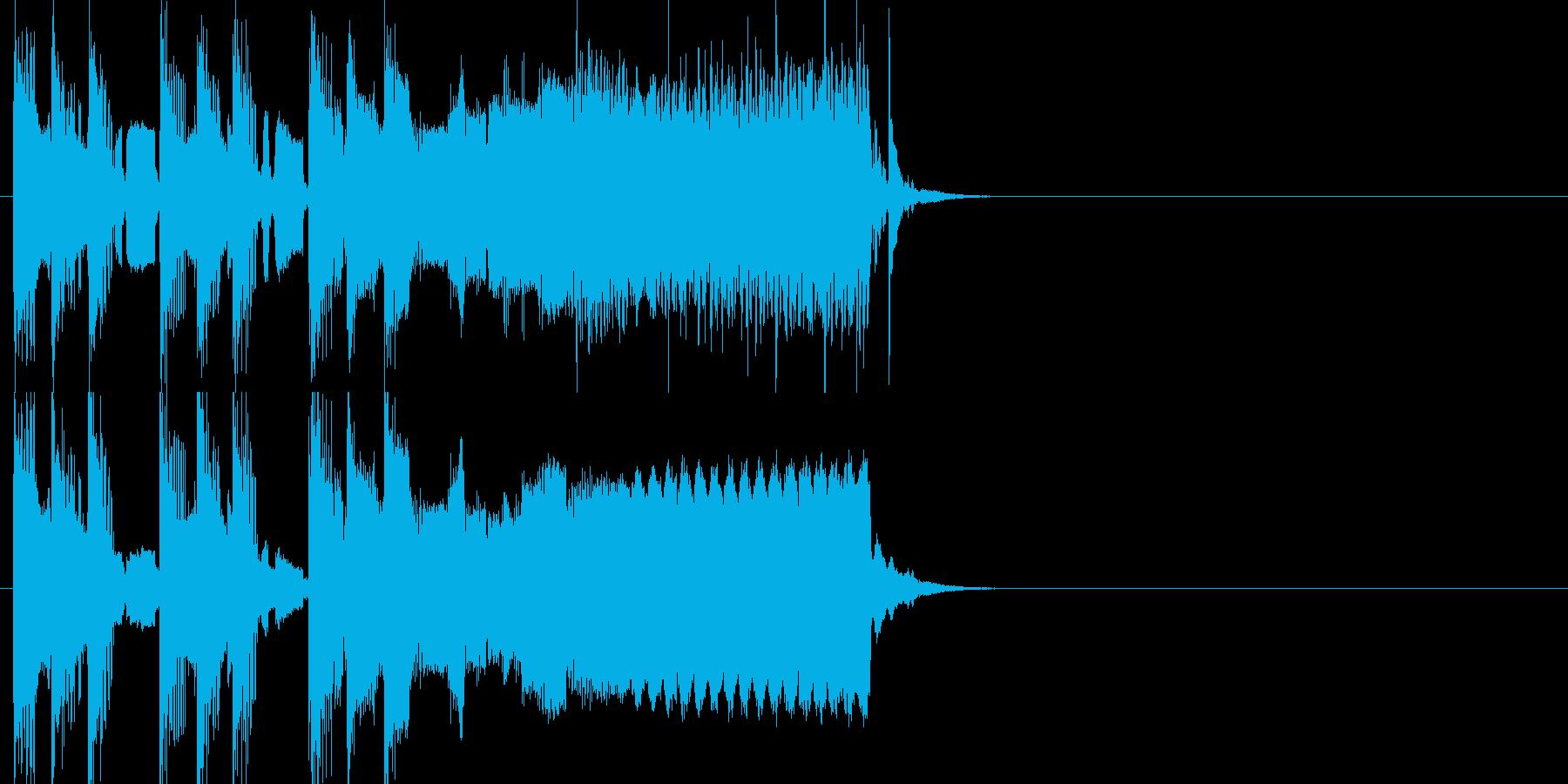 コミカルジングルの再生済みの波形