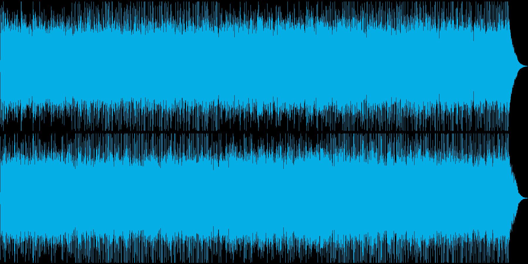 ギターサウンドの未来風壮大なロックの再生済みの波形