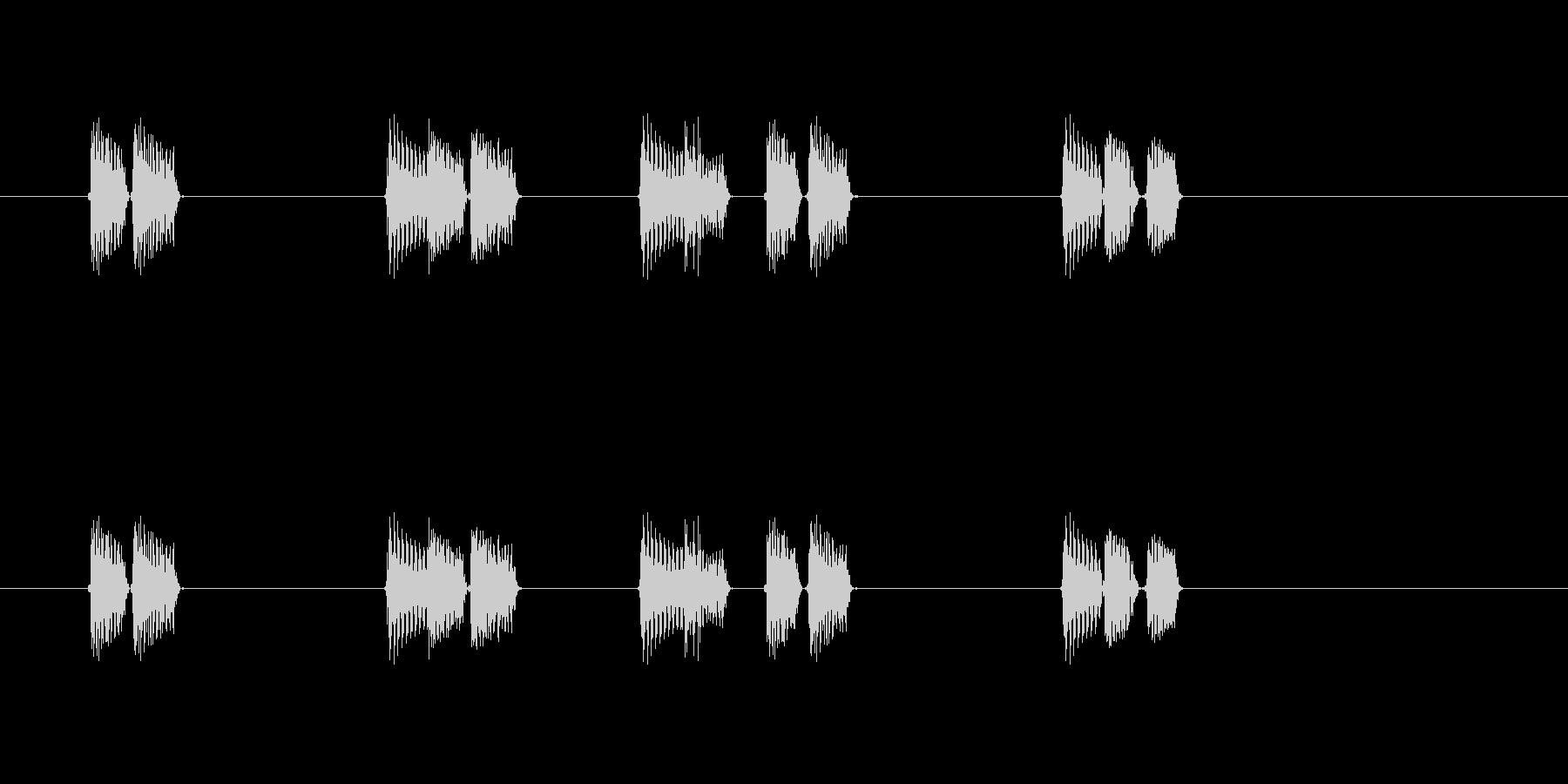 近未来やロボット感のあるシンセサウンドの未再生の波形