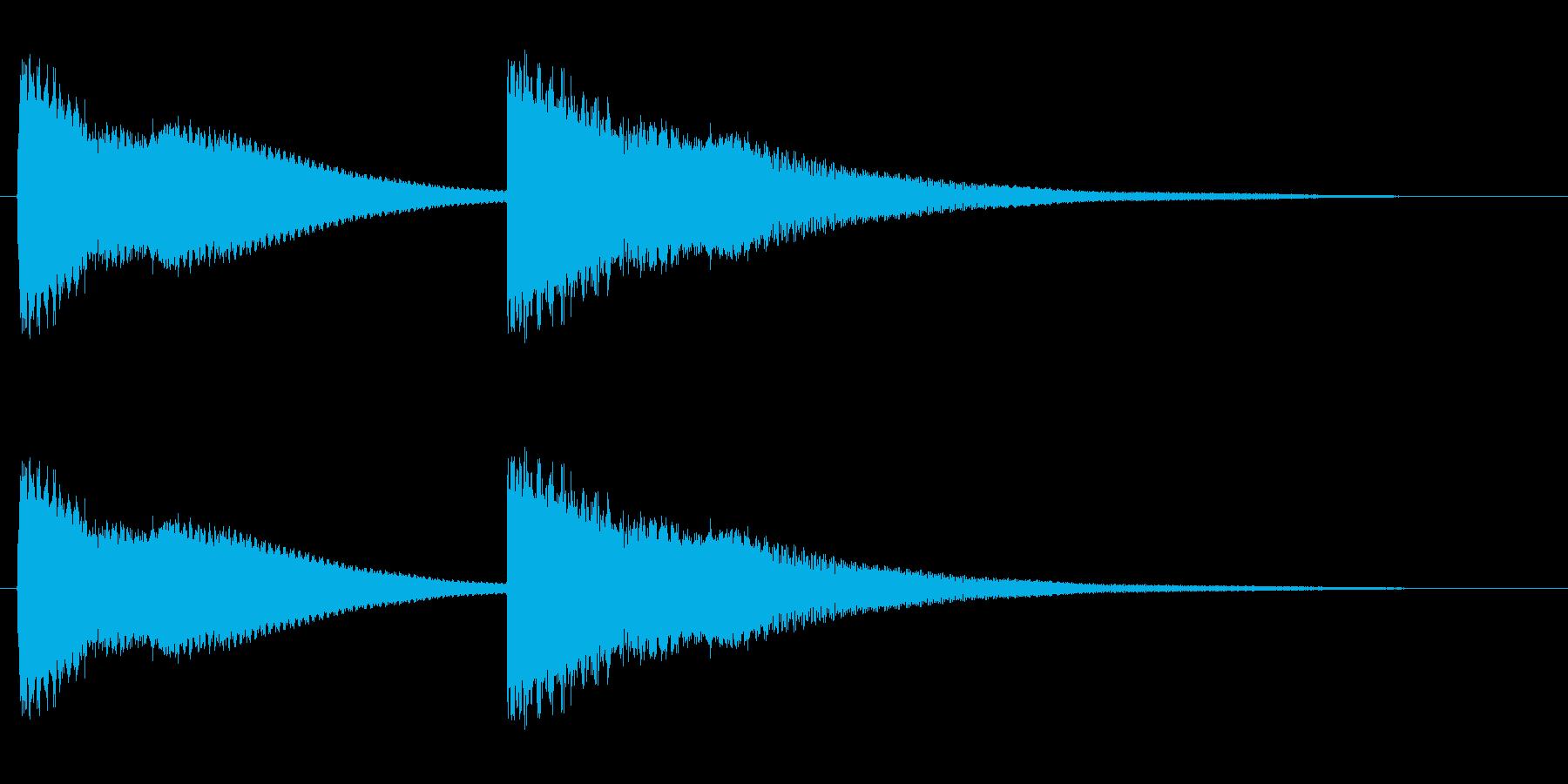 ピンポン(チャイムを鳴らす効果音)の再生済みの波形