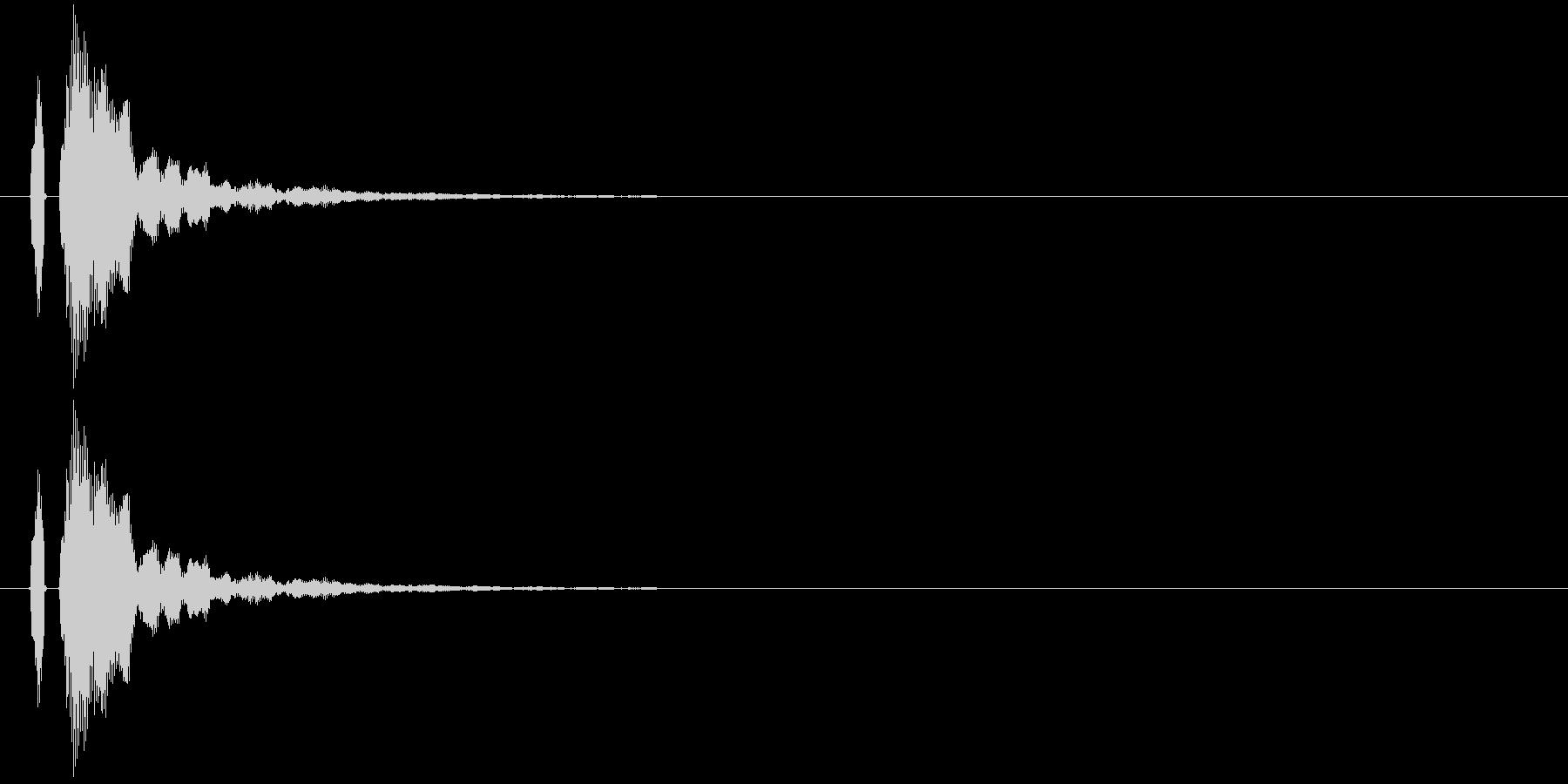 【ポン!】とてもリアルな太鼓の鼓!05の未再生の波形