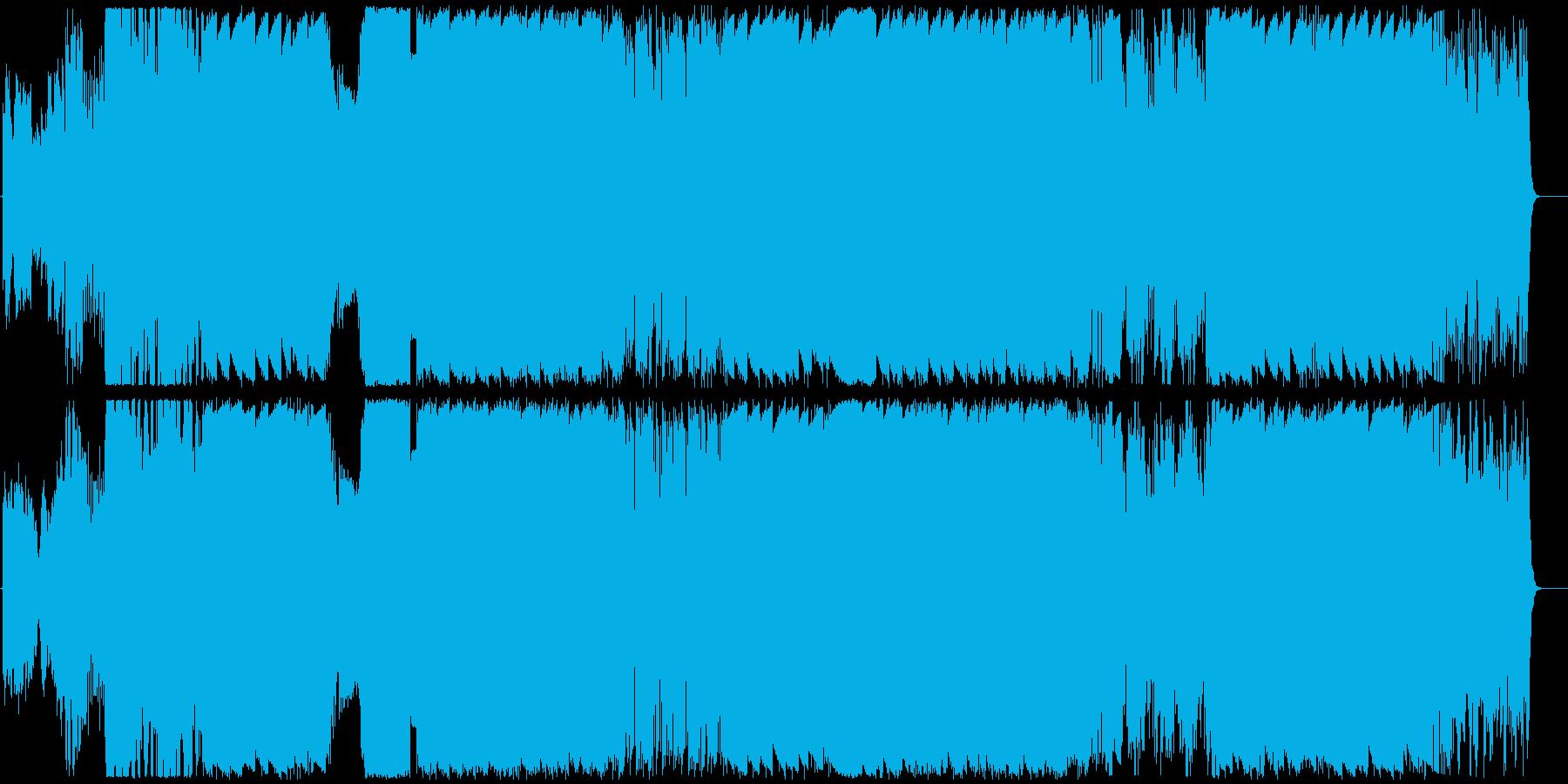 耳を突き抜ける強烈なビートとワブルベースの再生済みの波形