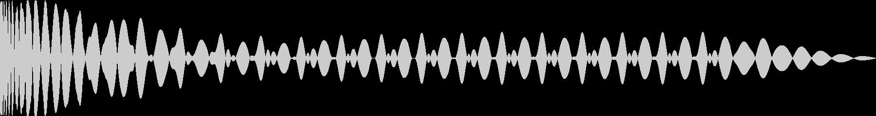 EDMキックEの未再生の波形