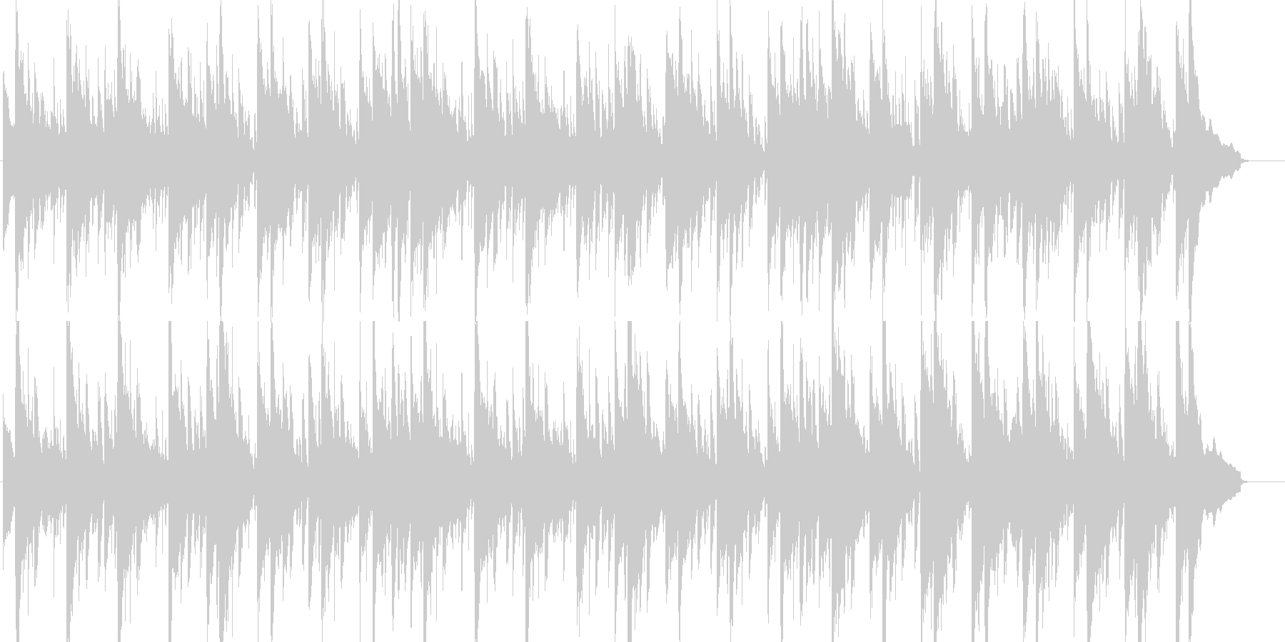 のんびりと余裕を感じるおしゃれなBGMの未再生の波形
