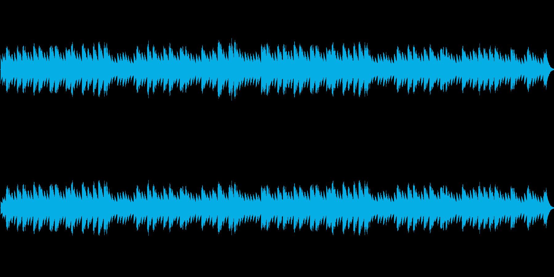 星空の雰囲気のオルゴールの再生済みの波形