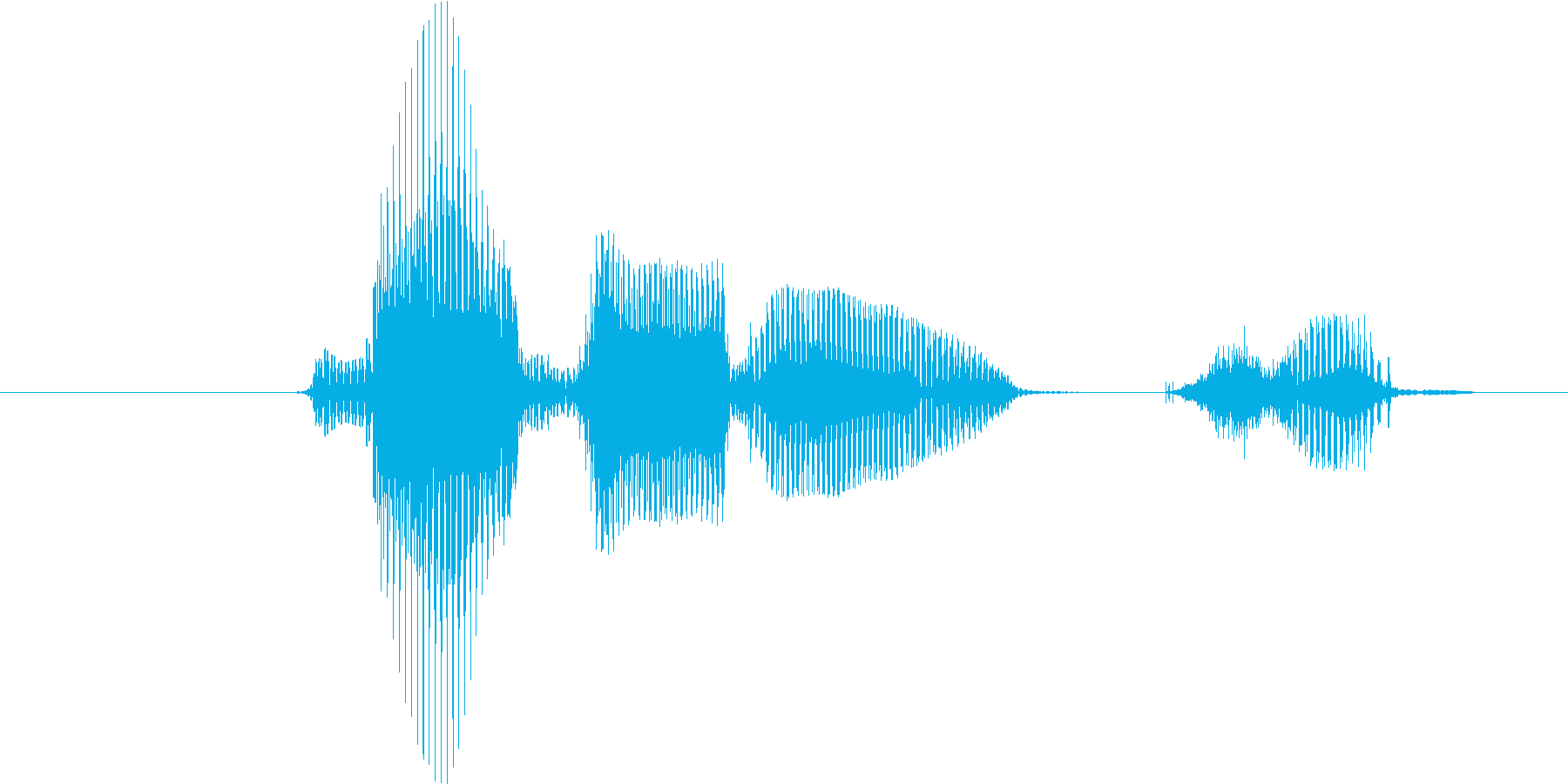 レベル1(いち)の再生済みの波形