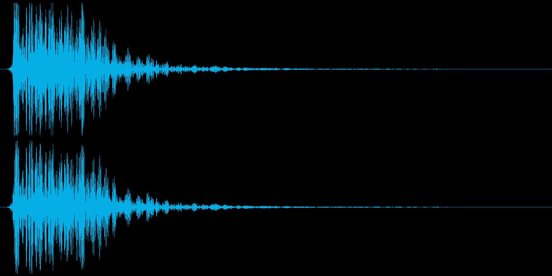 煙玉、爆発など 低い(ボワン)の再生済みの波形