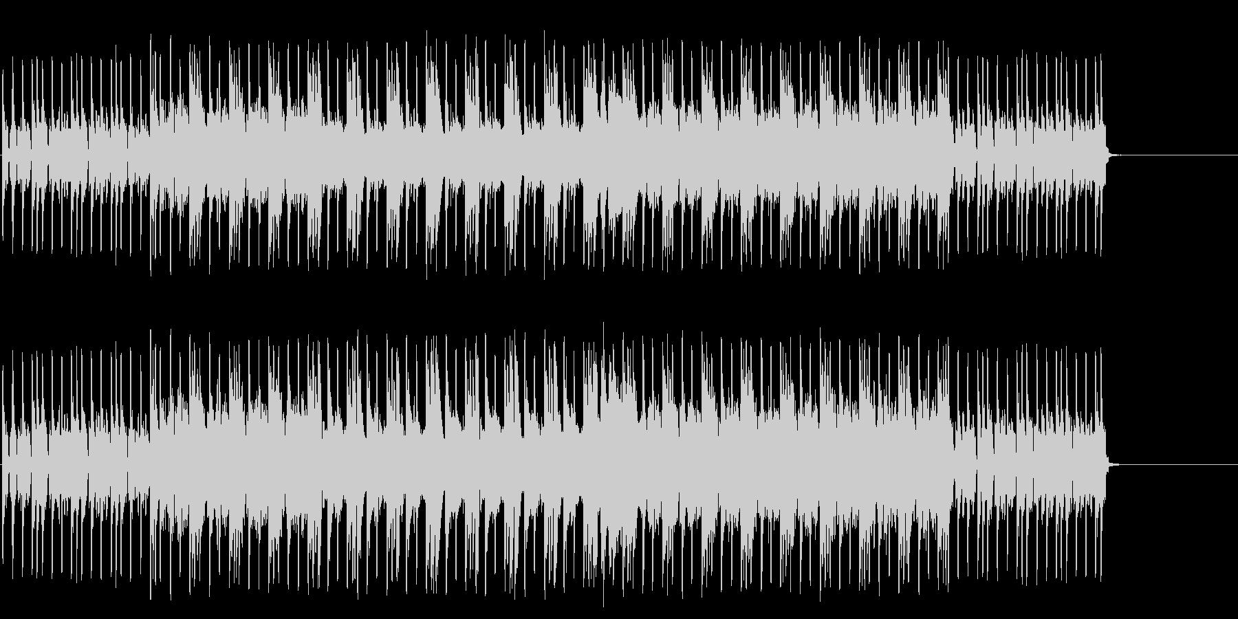 機械的なディスコ風のテクノ・ポップの未再生の波形