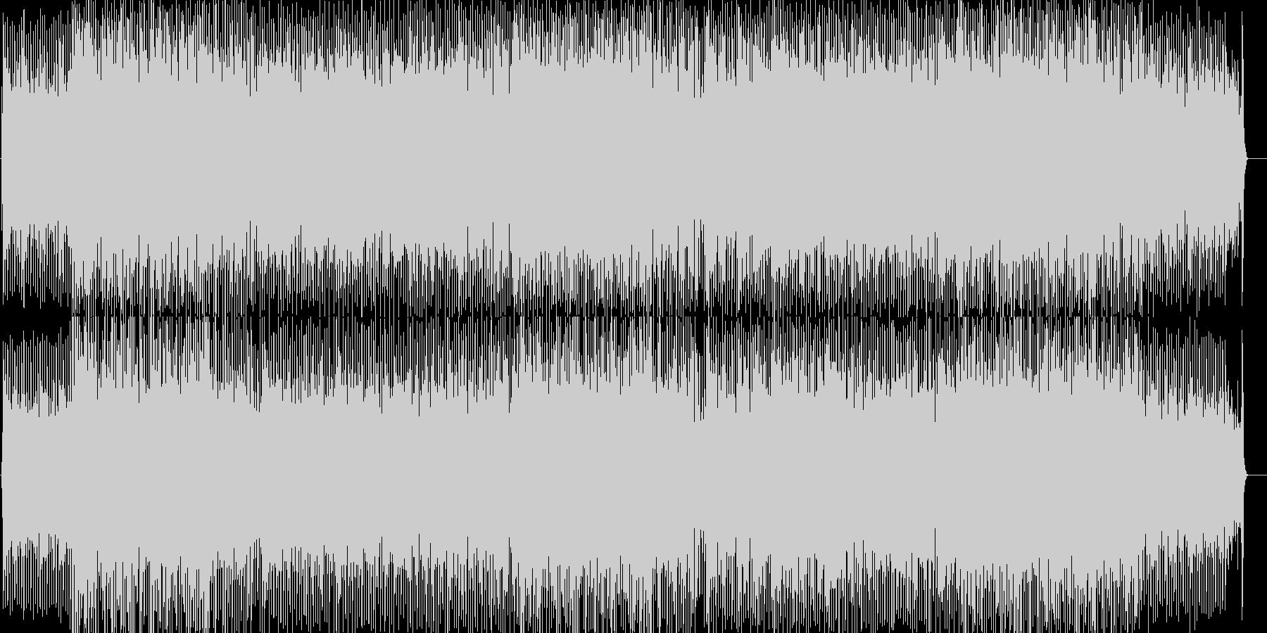 エンディングにぴったりのテクノポップの未再生の波形