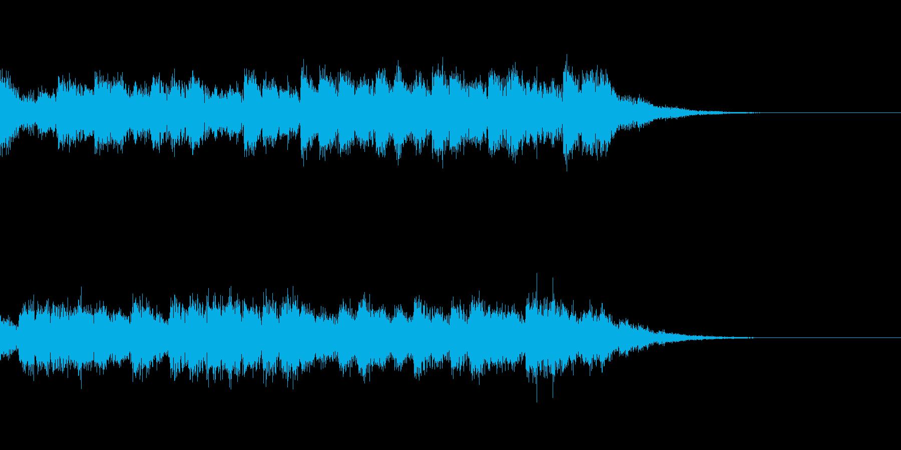 混乱音03の再生済みの波形