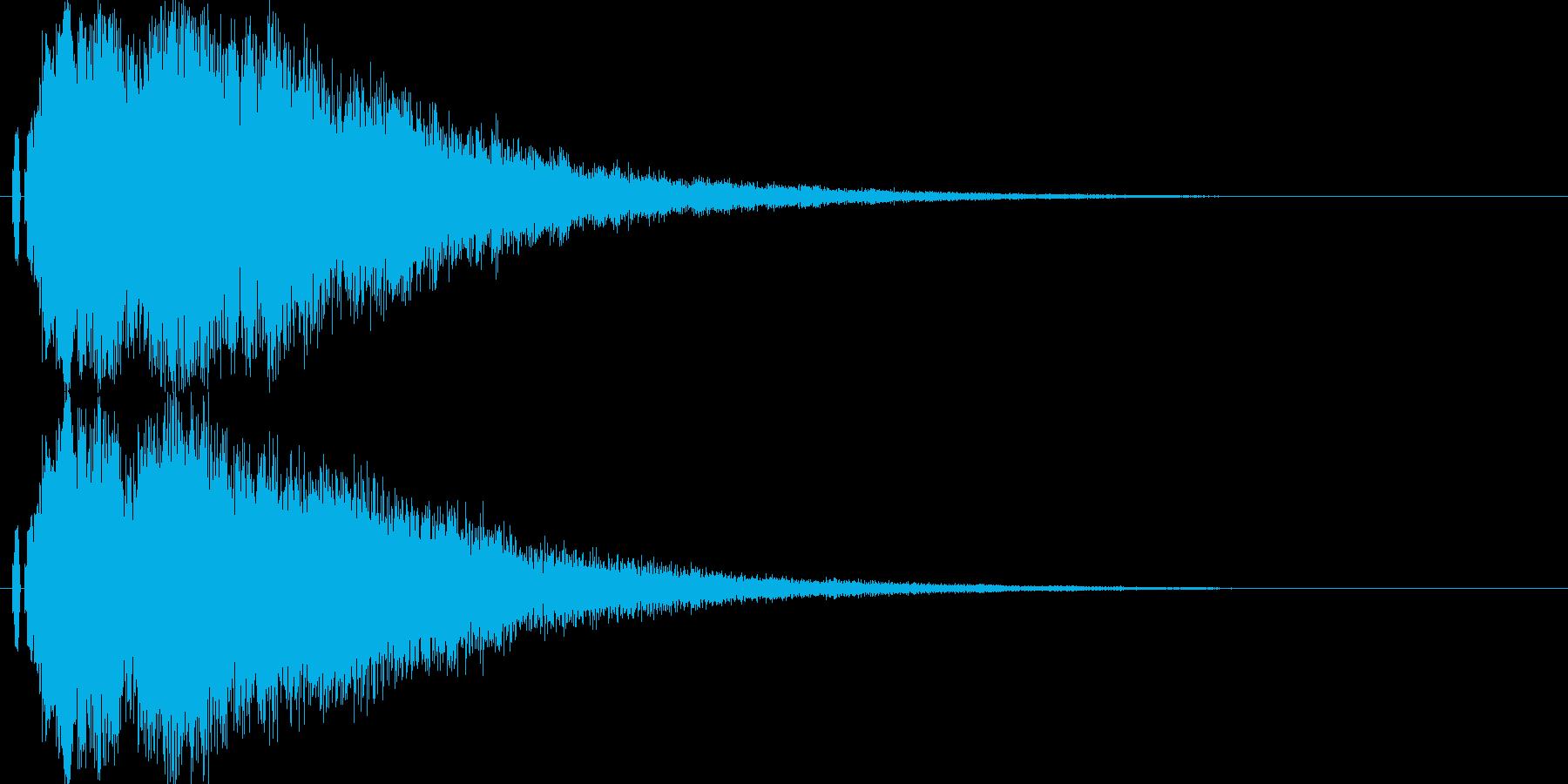 【キラキラ02】光や天使に最適な効果音!の再生済みの波形