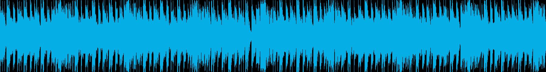 ダブステップLOOPの再生済みの波形