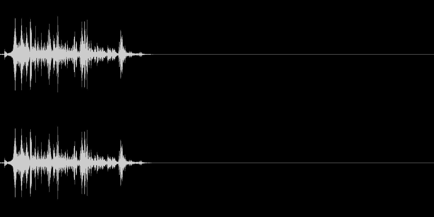ウイスキーキャップの音の未再生の波形