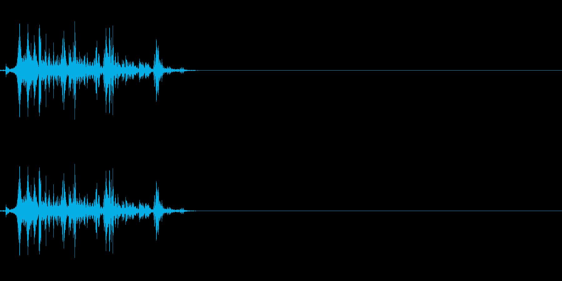 ウイスキーキャップの音の再生済みの波形