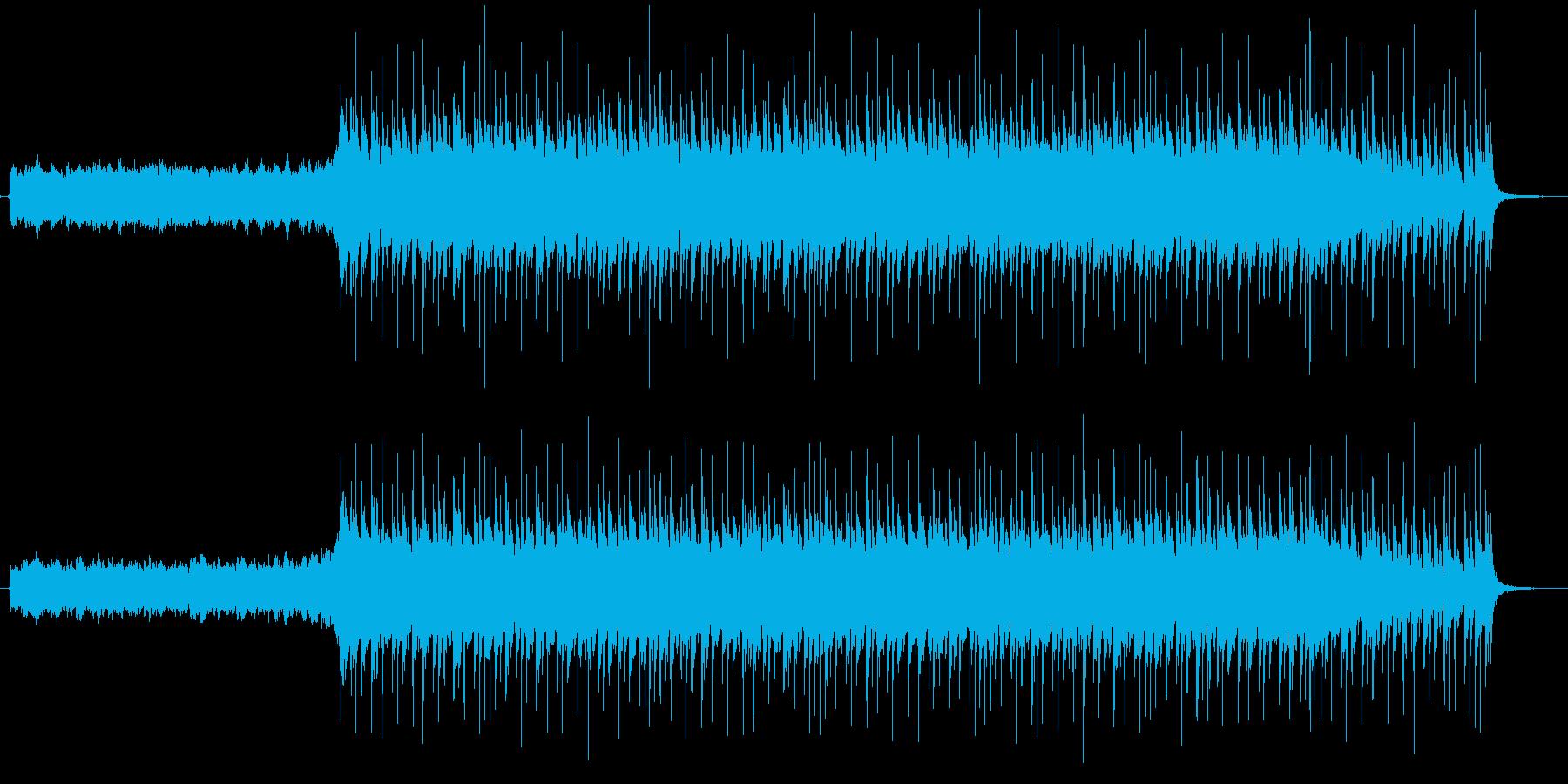 ポップロックで爽やかな雰囲気の曲の再生済みの波形