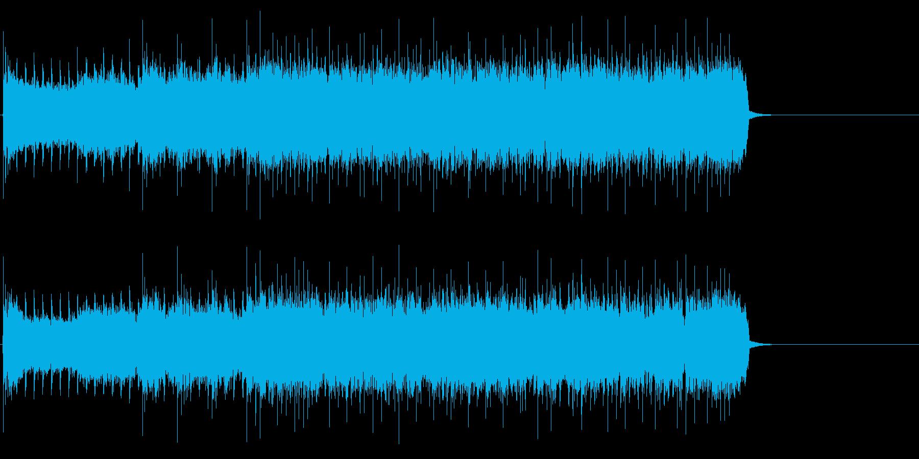 疾走感溢れるハードロック(イントロ)の再生済みの波形