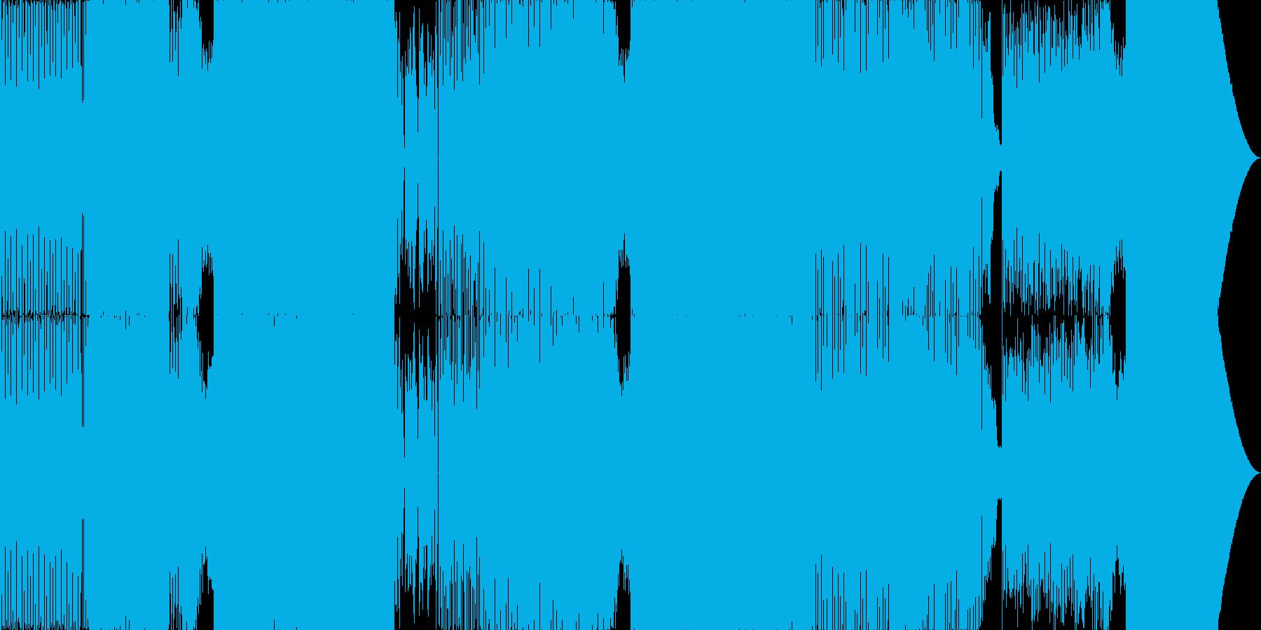 コミカルなEDMの再生済みの波形