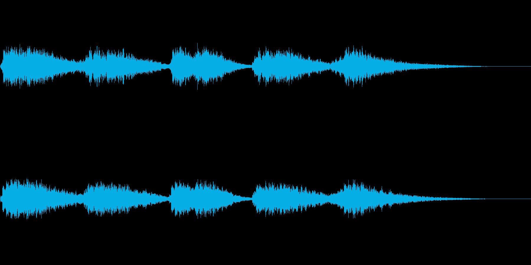 オープニングベル2の再生済みの波形
