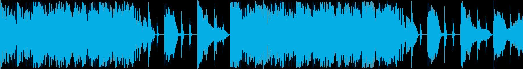 注目を集め緊張感のあるBGMの再生済みの波形