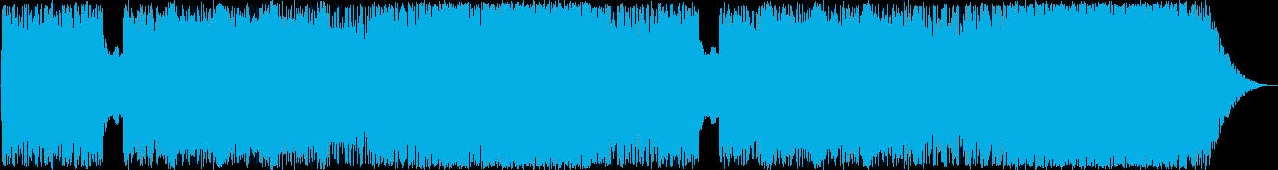 スリリングな雰囲気のヘヴィロックの再生済みの波形