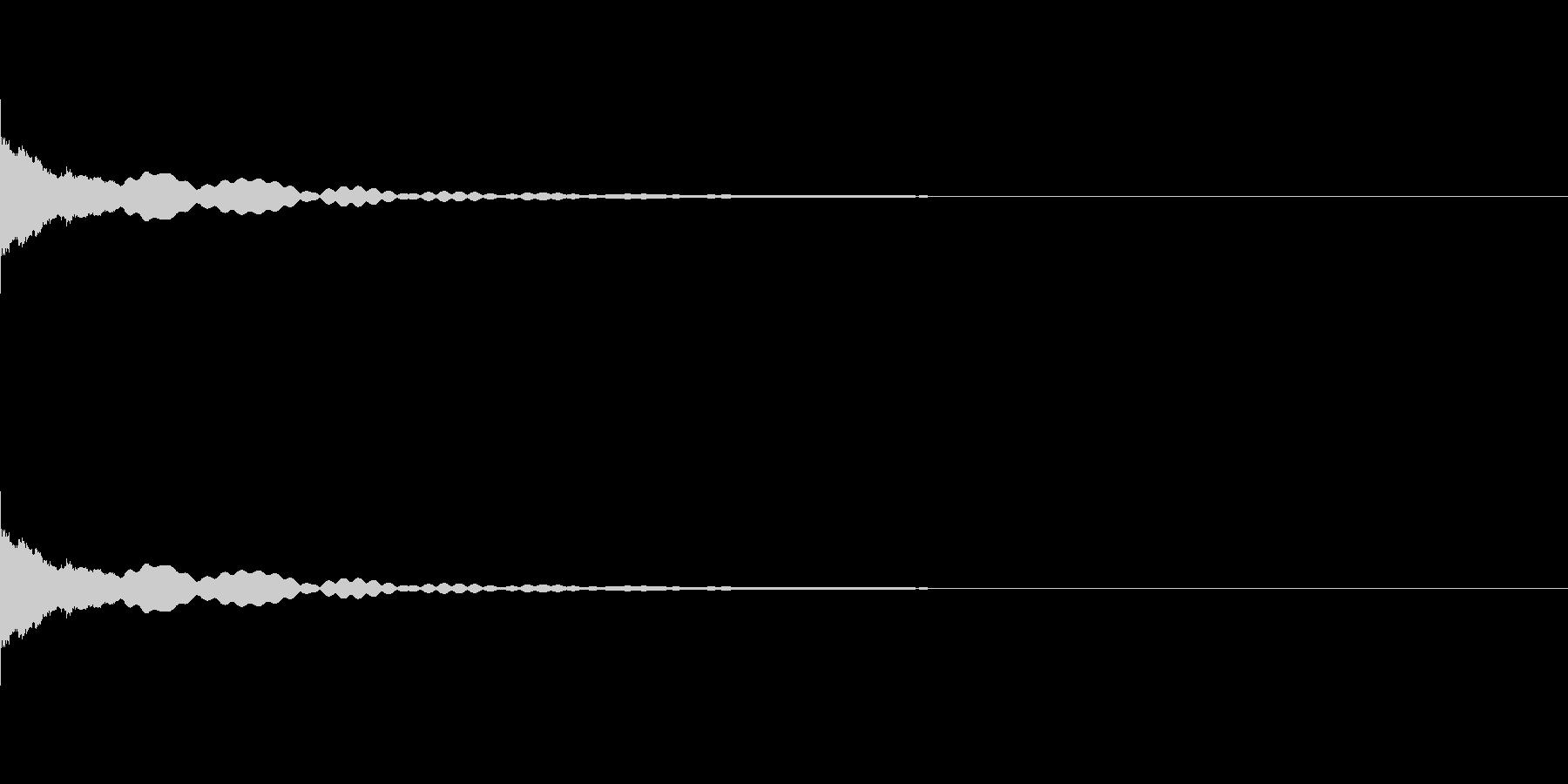 小さいベル。チリーン。の未再生の波形