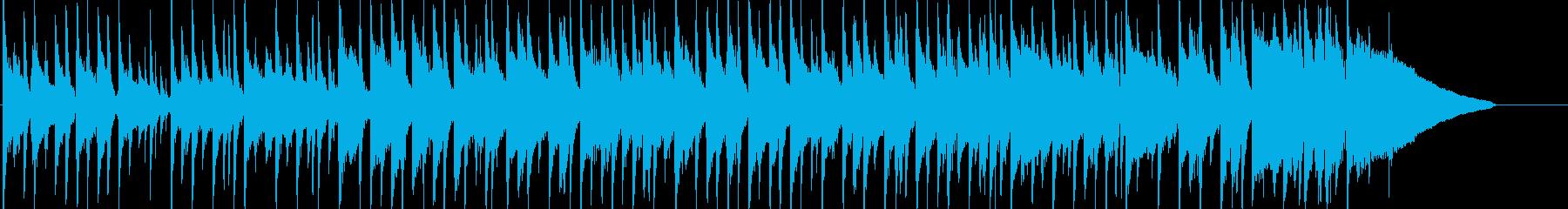 ほのぼのしたアコギメインのポップスの再生済みの波形