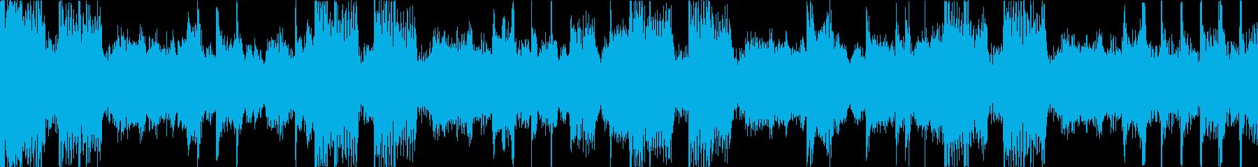 緊迫した重めのロック Bパートループの再生済みの波形