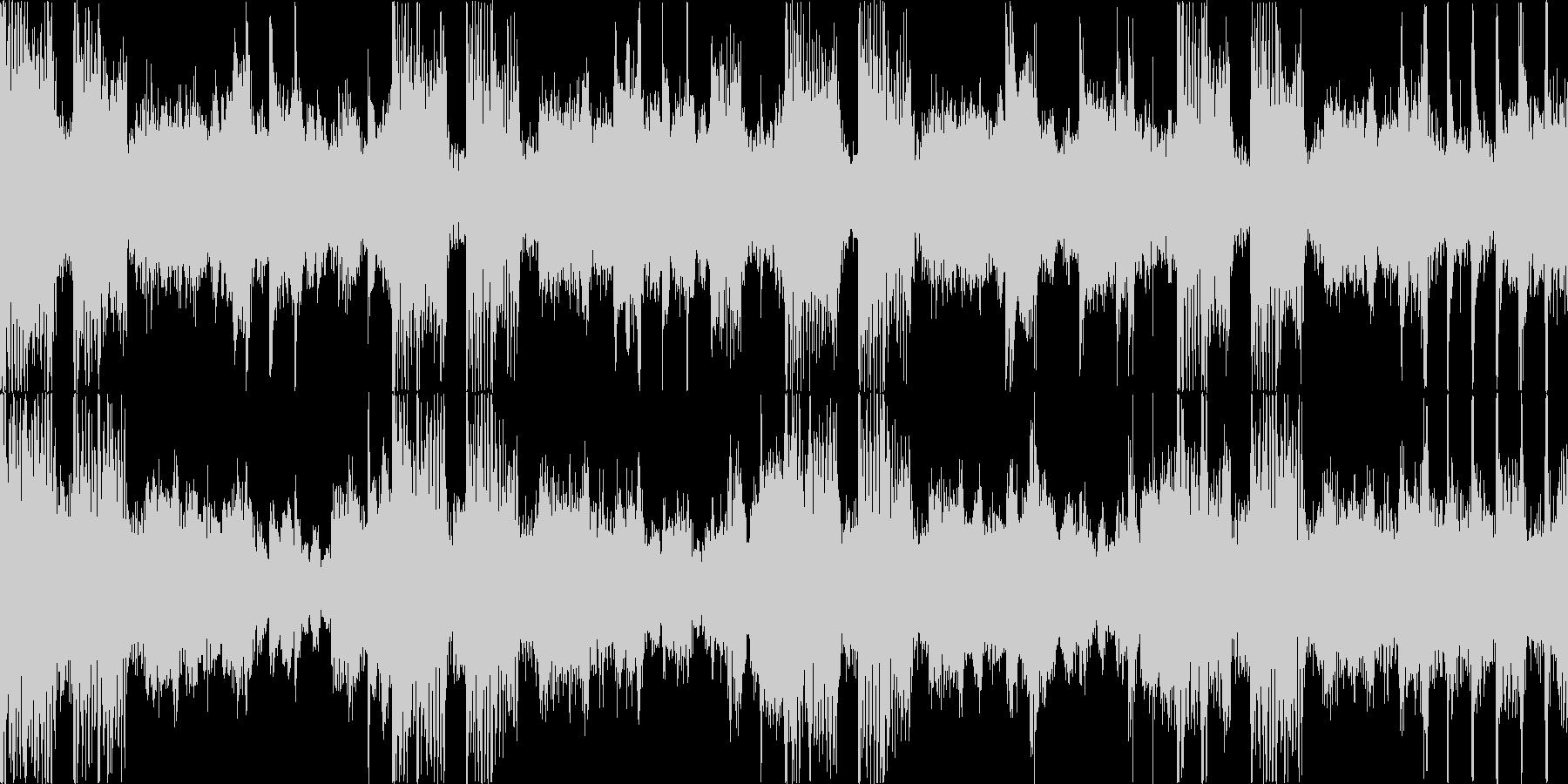 緊迫した重めのロック Bパートループの未再生の波形