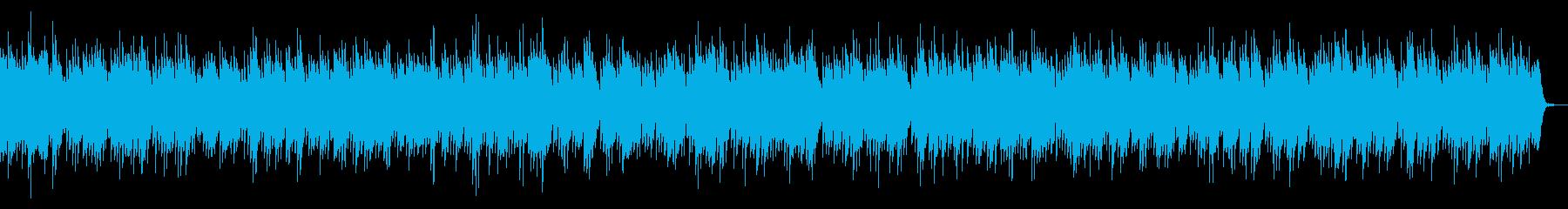 リズミカルなピアノ曲の再生済みの波形