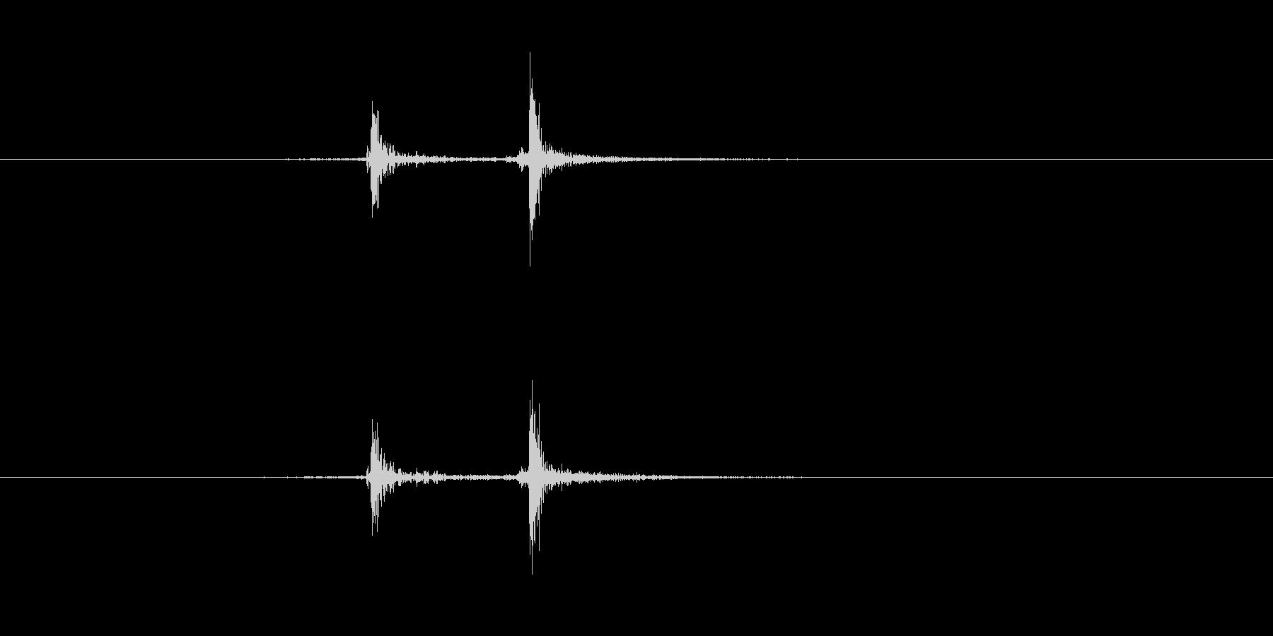 カタッ(キーボード、タイピング、電卓)の未再生の波形